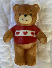 Vintage 1979 Lucy & Me Bear Red Heart Sweater Costume Enesco Figurine