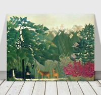 HENRI ROUSSEAU - The Waterfall - CANVAS ART PRINT POSTER - Deer - 36x24""