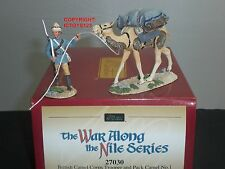 BRITAINS 27030 BRITISH CAMEL CORPS TROOPER + PACK CAMEL TOY SOLDIER FIGURE SET