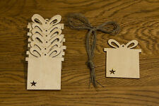 10 Stk Weihnachtsanhänger aus Holz Weihnachtsgeschenk Christbaumschmuck