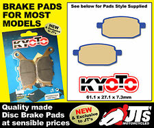 FRONT SET DISC BRAKE PADS SUIT DAELIM X-Sport Typhoon 125 Quad (06-07) PATTERN