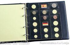 B-D-M Pack 10 hojas Pardo para monedas de euro - 2 juegos por hoja Mod. 75500