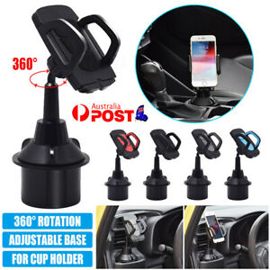 Universal Car Cup Holder Stand Cradle Adjustable 360 Degree Mobile Phone Mount