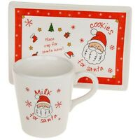 Santa's Treats 'Milk & Cookies' Mug & Plate Set Christmas Eve Gift