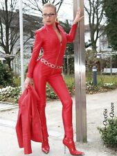 Leder Ledercatsuit Anzug Catsuit Overall 4-019K Rot Maßanfertigung