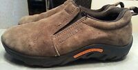 Merrell loafers for kids size 4 1/2 gunsmoke brown suede slip on beautiful shoes