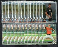 (26) Card Lot 2017 2018 Bowman Chrome Draft Trevor Rogers Miami Marlins Rookie