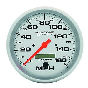 AUTO METER 4489 5'' ULTRA-LITE ELEC. SPEEDO 160 MPH