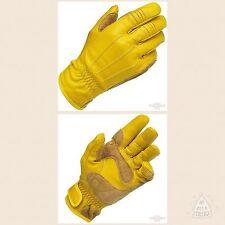 Guanti Moto Pelle Biltwell, Gloves, Work Gloves, Gold Biker Custom Gialli