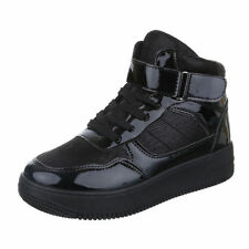 Damen-High-Top Sneaker mit Schnürsenkeln 30-39 Größe
