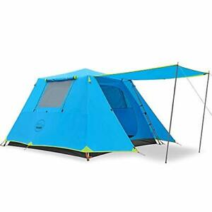 KAZOO Family Camping Tent Large Waterproof Pop Up Tents 6 Person Room Cabin T...