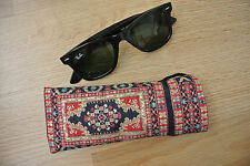 Turistic Kilim Patterned Eye Sun Glasses Case Cover with Long Strap Moroccan