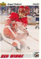 Sergei Fedorov 1991-92 Upper Deck #144 Detroit Red Wings Hockey Card