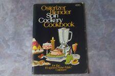 Vtg 1970 Oster 10 Speed Osterizer Blender Cookbook Spin Cookery Retro Recipes
