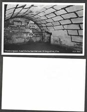 Old Florida Real Photo Postcard - St. Augustine - Castillo de San Marcos Dungeon