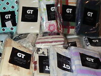 GT 2 Pack Flannel Pillowcases Standard 100% Cotton Assorted Colors & Patterns