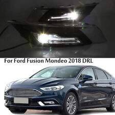 Complete OEM-Spec LED Fog Driving Lamps w/Bezel Wiring For 2017-19 Ford Fusion