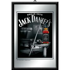 Jack Daniels Billard Nostalgie Barspiegel Spiegel Bar Mirror 22 x 32 cm