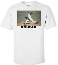 SANDY KOUFAX LOS ANGELES DODGERS BASEBALL WHITE T-SHIRT