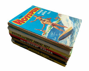 Vintage Boys Annuals Job Lot X 8 The Hotspur Victor Whizzer and Chips