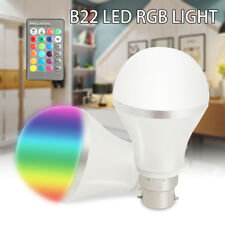 B22 Dimmable RGB Color Changing LED Light Bulb Bayonet With IR Remote Control