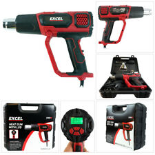 Excel Electronic Heat Gun Hot Air LCD Variable Temperature Control Display 2000W