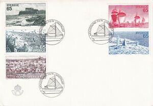 SWEDEN 1974 FIRST DAY COVER, & INSERT, SCENES FROM SWEDEN'S WEST COAST