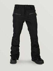 2020 NWT WOMENS VOLCOM LEO9.0 STRETCH SNOWBOARD PANTS $190 S Black