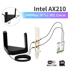 Ax210 Ngff M.2 Wifi Network Card 3000Mbps Bt 5.2 Desktop Kit 802.11ax Wireless