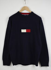 Tommy HILFIGER Men's LARGE Big Tommy Logo Crew Pullover Sweater 32563_GS