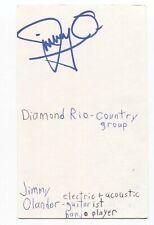 Diamond Rio - Jimmy Olander Signed 3x5 Index Card Autographed Signature Band