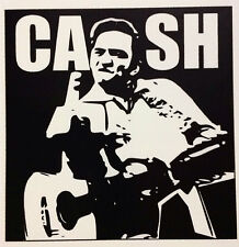 CASH RAT ROD HOT ROD CHOPPER  BOBBER  DECAL STICKER   ROCKABILLY JOHNNY  CASH