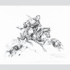 Mieczyslaw Sieminski (1891-1965 Polen): Reitender Kosake mit Jagdhunden