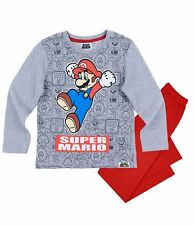Boys Kids Official Licensed Disney Various Character Long Sleeve Pyjamas PJs 18 Super Mario #3 8 - 9 Years