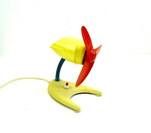 VERY RARE 50S COLORFUL MID CENTURY MODERNISM TABLE FAN VINTAGE 1950 BY ETASCO