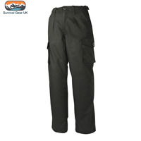 "MOD POLICE PATTERN COMBAT TROUSERS MENS 28-42"" RIPSTOP BLACK WORKWEAR CARGO"