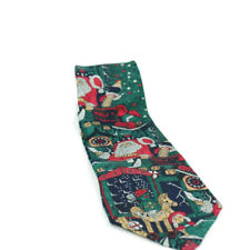 Cape Cod Neckwear Mens Christmas Santa Toys  Holiday  100% silk