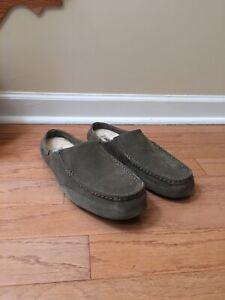 Genuine Men's UGG Australia Alamar Slip On Slippers, Grey, Size 12, NEW