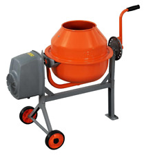 Concrete Mixer 16 Cu Ft Compact Portable Electric Rugged Low Profile Height