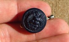 WW2 USN US Navy WAVES Women's Female Dark Blue Medium Button Nice 5/8""