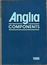 Anglia components catalogue/ Brochure 1986 ResistorsFilm,Semiconductors, 148 pgs
