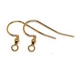 14kt gold filled earwire earring hooks ball coil 21 gauge