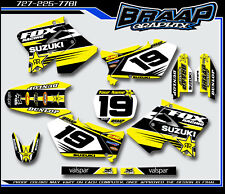 Suzuki RM 125-250 2001-2012 GRAPHICS DECAL KIT MOTOCROSS BRAAP
