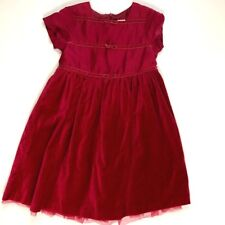 Gymboree Girls Crimson Red Christmas Dress 6 Holiday Special Occasion