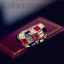 Sinfonía Cristal Diamante de imitación Anillo de dedo Moda Mujer Joyería UNO
