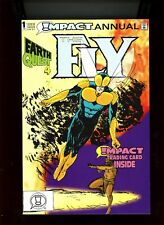 """1992 DC/Impact Comics """"The Fly"""", Annual # 1, trading card intact, NM, BX53."""