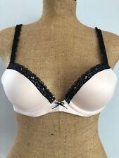 4e1709c2be47e Lexie Aerie Beige Black Lace Underwire Push Up Bra Size  34 A