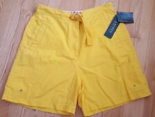 NWT Lauren Ralph Lauren Womens Bermuda Shorts~Sz 12 Yellow 6 Pocket~Belted New