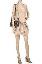 New STELLA McCARTNEY Flirty Layered Pinstriped White Tank Dress 40