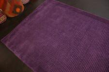 Modern Teppich Handtufted aus Wolle Lila ca 160 x 123 cm Neu